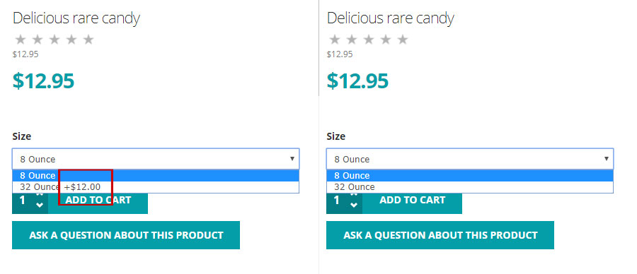 Removing the additional price in Virtuemart cart variant dropdown